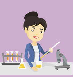 student working at laboratory class vector image vector image