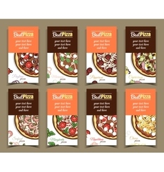Template Banners With Pizza vector image vector image