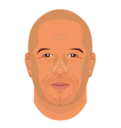 vin diesel face icon in flat style vector image vector image