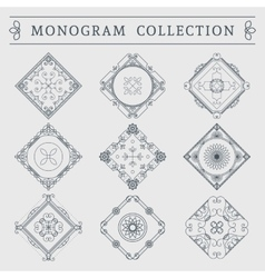 vintage monogram set vector image
