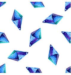 Watercolor of diamond crystals vector