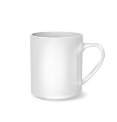 White cup on transparent background drink cup vector