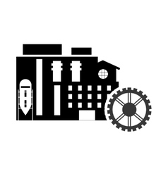 Factory and gear icon vector