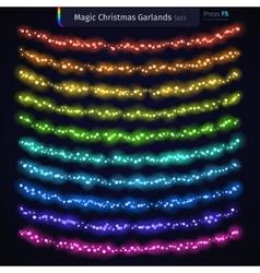 Magic christmas garlands set3 vector