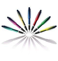 color pen vector image
