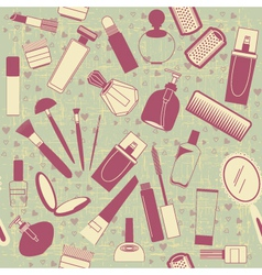 cosmetics seamless patternVintage background on vector image