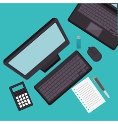 Office equipment flat icons vector