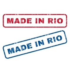 Made in rio rubber stamps vector