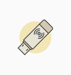 Wireless usb transmitter receiver icon vector