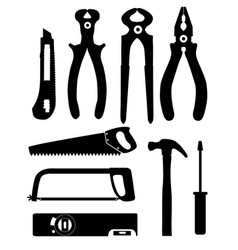 Set of isolated icons building tools for repair vector