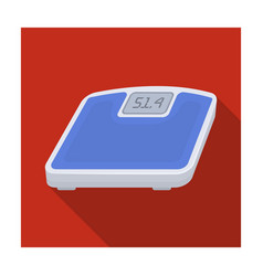 the scales in the gym for the weighinggym and vector image