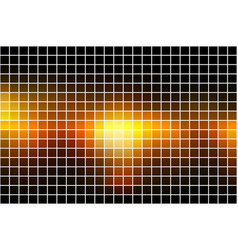 black orange yellow square mosaic background over vector image