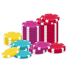 A collection of poker chips vector image