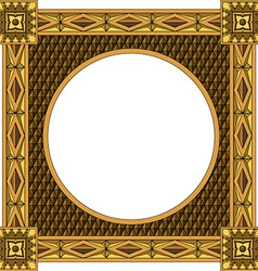 Traditional wooden frame vector image