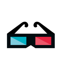 3d glasses cinema icon vector image