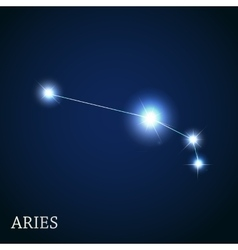 Aries Zodiac Sign of the Beautiful Bright Stars vector image