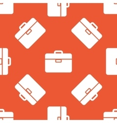 Orange briefcase pattern vector