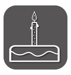 Birthday cake sign icon vector