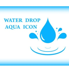 Water drop aqua icon vector
