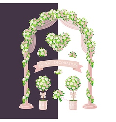Floral decoration beige vector