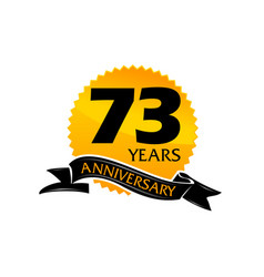 73 years ribbon anniversary vector image