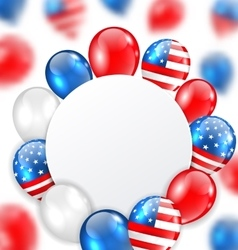 Celebration clean card with balloons in american vector