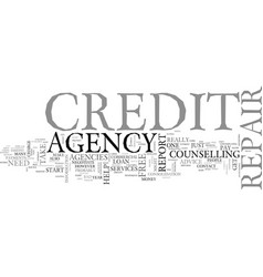 A credit repair agency what can it do for you vector
