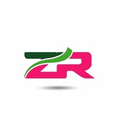Alphabet z and r letter logo vector