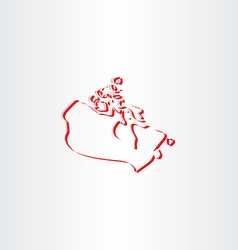 Canada map stylized icon vector
