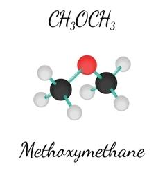 CH3OCH3 methoxymethane molecule vector image vector image