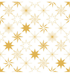 Christmas star seamless pattern vector
