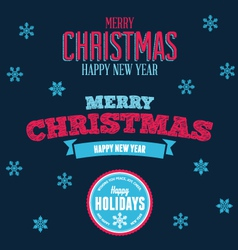 Christmas text design elements vector image