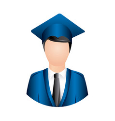 colorful man graduation icon vector image vector image