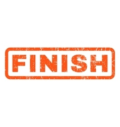 Finish rubber stamp vector