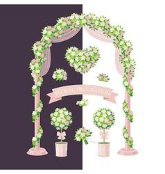 Floral decoration beige vector