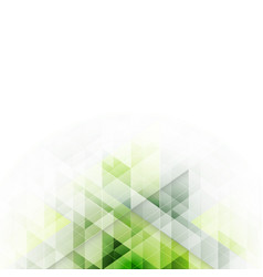 green triangles design abstract background with vector image vector image