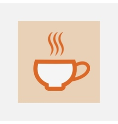 hot cup icon vector image vector image