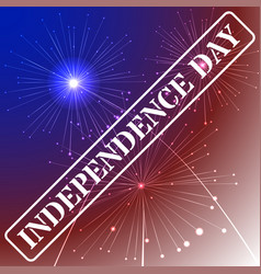 Independence day background with american flag vector