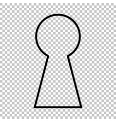 Keyhole sign line icon vector