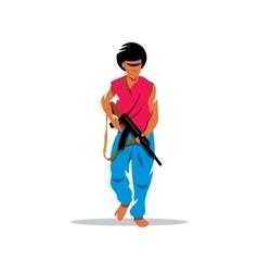 Man with gun cartoon vector