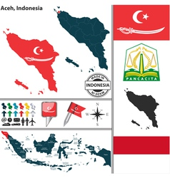 Map of aceh vector
