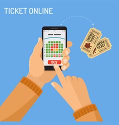 Online cinema ticket order concept vector