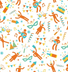 Party people seamless pattern vector