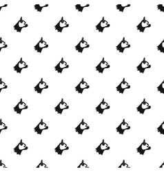 Pug dog pattern simple style vector