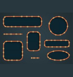 retro light frames vector image