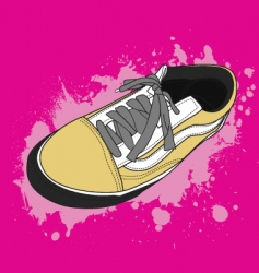 retro shoes vector image vector image