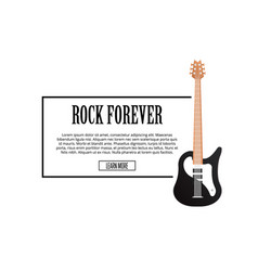 rock forever poster with classic acoustic guitar vector image