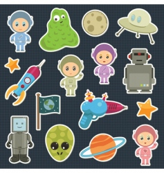 space stickers vector image vector image