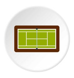 Tennis court icon circle vector