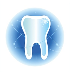 Tooth dental care symbol icon vector